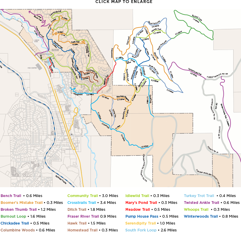 Rendezvous Trail Map